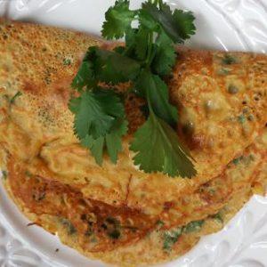 Savory Chickpea (Garbanzo) Flour Pancakes