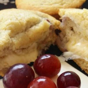 Savory Sweet Grape & Cheese Muffins