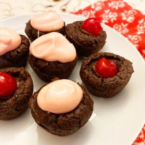 Cherry Chocolate Brownie Bites