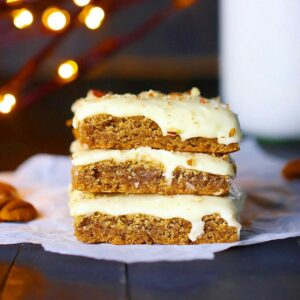 Cinnamon Spice Bars with Sweet Ginger Icing