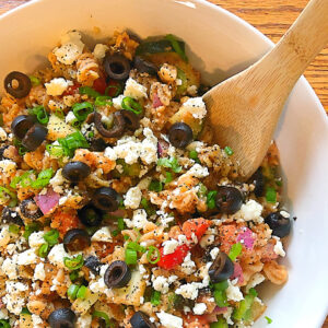Greek Lentil Pasta Salad