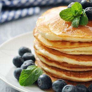 Johnny Cakes with Blueberries