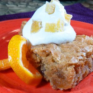 Orange Ginger Bars