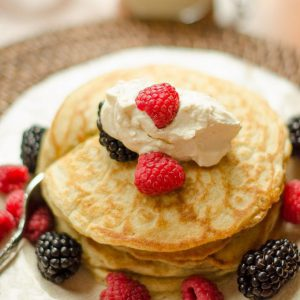 Pancakes with Homemade Whipped Cream
