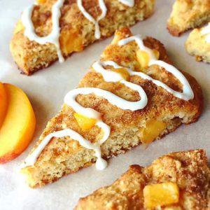 Peach Streusel Scones