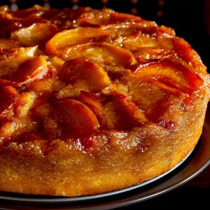 Quick Fresh Fruit Upside-Down Cake