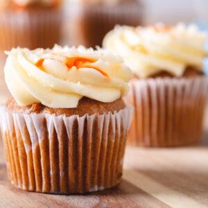 Salted Caramel Carrot Cupcakes