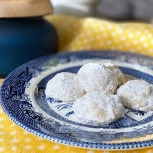 Snowball Lemon Cookies