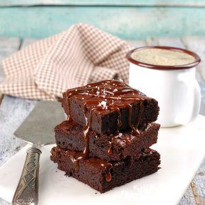 Vegan Dark Chocolate Brownies